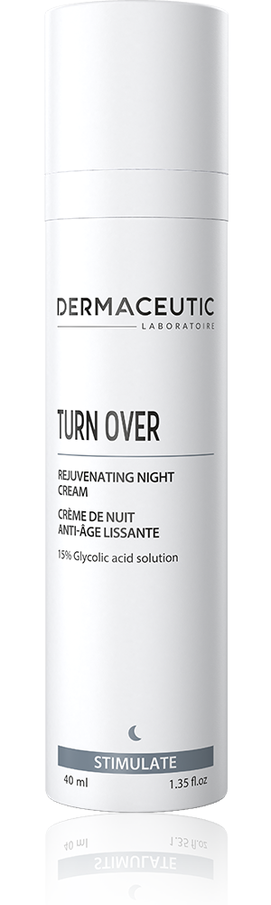 turn over night cream with glycolic acid in 40ml